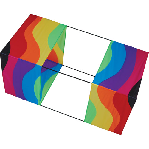 """WAVY RAINBOW BOX KITE 40"""""""