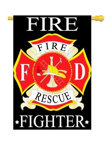 FIRE FIGHTER BANNER FLAG